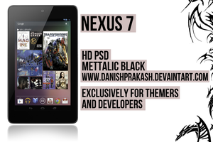 Nexus 7 PSD by danishprakash