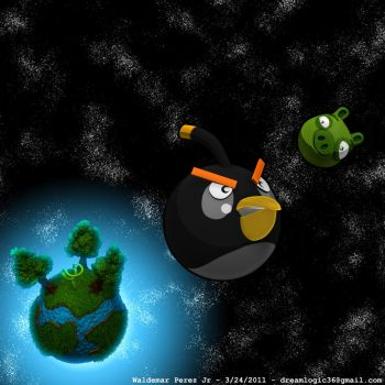Angry Birds in Space by CyberSpawn2100