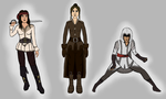 Assassin's Creed - Female OCs by HedgeCatDragonix