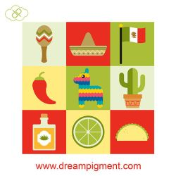 Cinco De Mayo Icons 2018 by DreamPigment