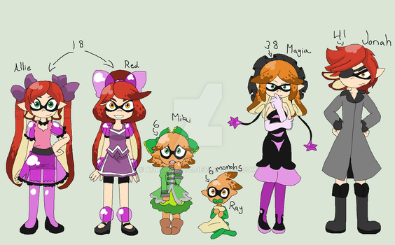 Splatoon - Inkowoski Family by AuroraArtz