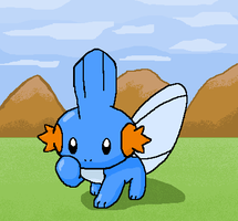 Mudkip - MS Paint by NessStar3000