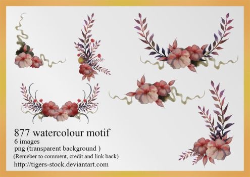 877 Watercolour Motif by Tigers-stock