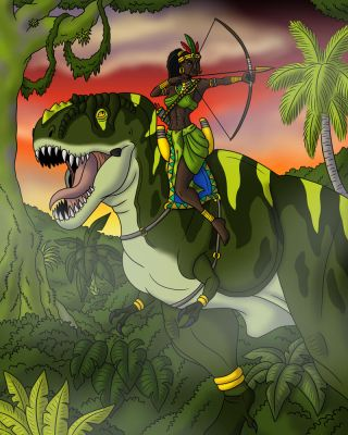 Queen Butumbi and Tambwe by TyrannoNinja