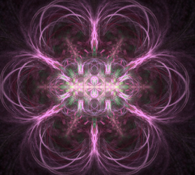 purple pink commitment and promise fractal by TanithLipsky
