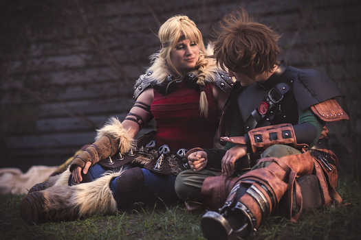Hiccup and Astrid 1 by Aoime