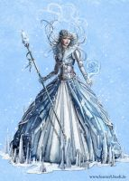 snow queen concept by laura-csajagi