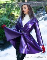 Kerri Taylor purple latex jacket by modelkerritaylor