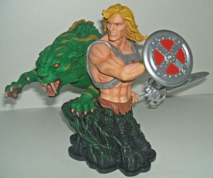 HE-MAN BATTLE-CAT BUST COMBO by YOURKILLERCUSTOMS