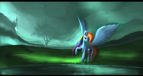 Rainbow dash, by Auroriia