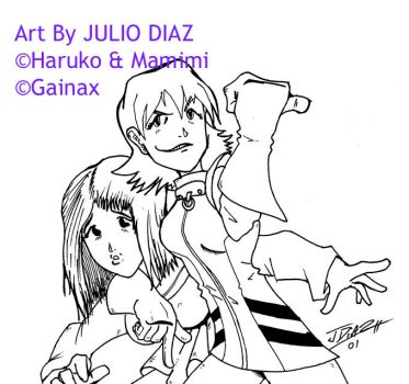 Girls of FLCL by zaid19