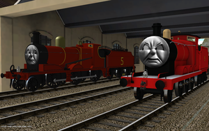 Railway Series meets Television Series: James by Rose-Supreme
