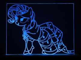 Dressed Rarity Acrylic LED Picture by steeph-k
