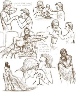 sabriel fluff sketchdumpish by padfoot2012