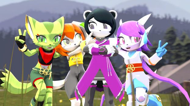 Freedom Planet 2 Group Photo by SpongeDragon15