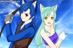 Borcues and Luna by cat55