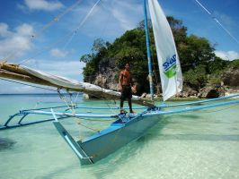 Boracay Seaman and His Boat by SniperOfSiberia
