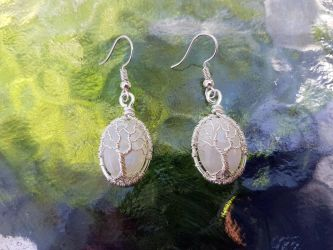 White Tree of Gondor earrings by jessy25522