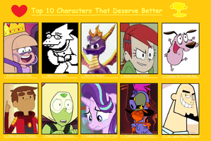 10 More Characters That Deserve Better by DarkBrawlerCF1994
