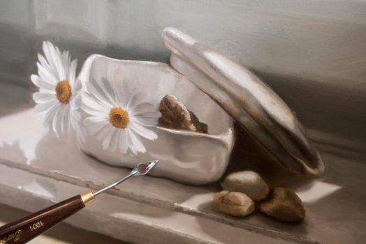 Jewelry box- OIL PAINTING by Astartte