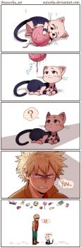 BNHA Kacchan and Uraracat by Suncelia