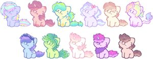 pastel pony adopts~ 1# (OPEN) by Carol2015