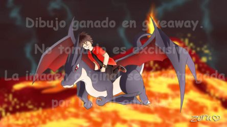 Pokemon | Charizard Y Shiny (Giveaway-Drawing) by ZoruDawn