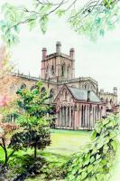 Chester Cathedral England by morgansartworld