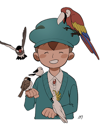 With birds by mono5040
