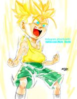Kid Trunks Super Saiyan by Mark-Clark-II