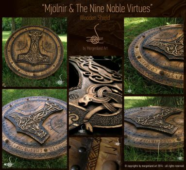Mjolnir and the Nine Noble Virtues by morgenland