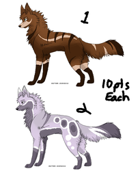 Wolf Adoptables - Batch 1 - Open by CGP30