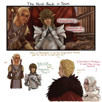 Dragon Age: The Hero's Back in Town by Zeffel