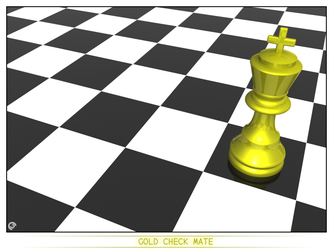 Gold Check Mate by Dredmix