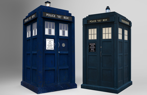 Capaldi and Whittaker TARDIS models by Fusionfall550