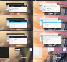 Yosemite Black And Light Theme For Windows 7 by Cleodesktop