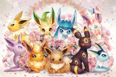 Eeveelutions 2015 by GreyRadian