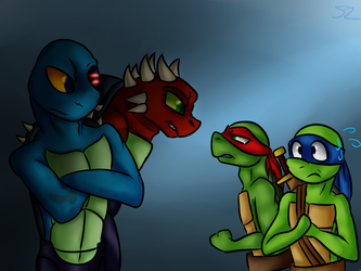 2k12 Raph And Leo Meets Dark Raph And Leo by Atomic52