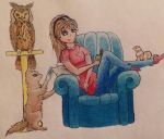 Finished: Dolly Chillin with life companions by ArtsyOwlFree3