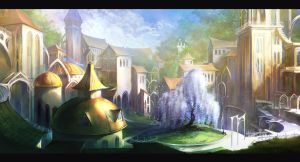 Elven town by anndr