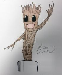 Dancing Groot by SJWebster
