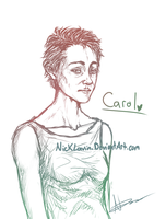 --The Walking Dead: Carol-Sketch-- by NichelleLavin