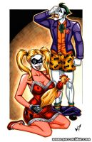 Harley + Joker commission by gb2k