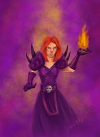 WoW Warlock - Loraleigh by tadamson