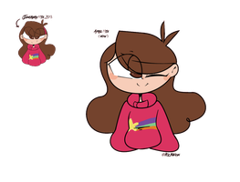 Mabel Pines re-draw by EvelynDrawz