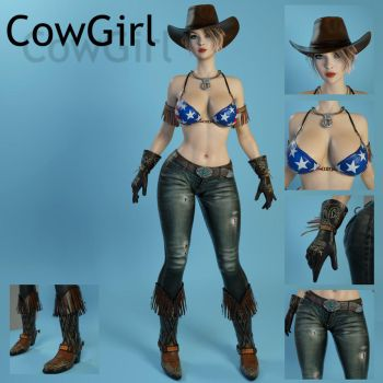 CowGirl for Genesis 3 Female by guhzcoituz