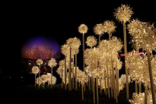 Spaceship Earth Holiday Display by artsyfaux