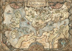 Map of Caldyra by FrancescaBaerald