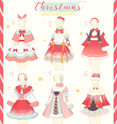 [CLOSED] Christmas Outfit Adopt #27 by Black-Quose