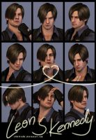 9 Faces Photo-shoot - Leon S. Kennedy by xTh13teeNx